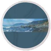 California Beaches 3 Round Beach Towel