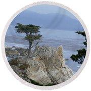 California Bonsai Round Beach Towel