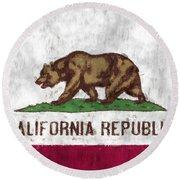 California Flag Round Beach Towel