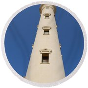 California Lighthouse In Aruba Round Beach Towel