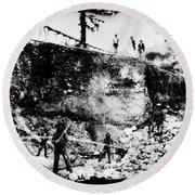 California: Mining, 1850s Round Beach Towel