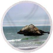 California Ocean Beach Round Beach Towel
