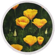 California Poppy Round Beach Towel by Veikko Suikkanen
