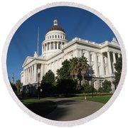 California State Capitol Round Beach Towel