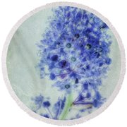 Californian Blue Round Beach Towel