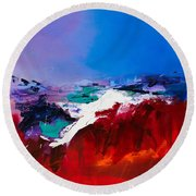 Call Of The Canyon Round Beach Towel