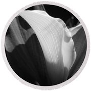 Calla Lily Named Crystal Blush Round Beach Towel