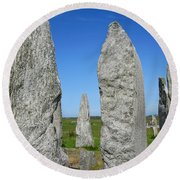 Callanish Stone Circle Round Beach Towel