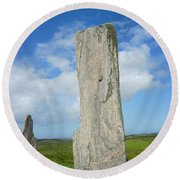 Callanish Tall Stones Round Beach Towel