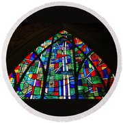 Callaway Gardens Chapel Stained Glass Round Beach Towel