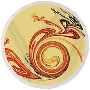 Calligraphy Round Beach Towel