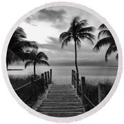Calm Before Storm Round Beach Towel