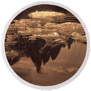 Calm Day In Patagonia Round Beach Towel