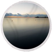 Calm Michigan Round Beach Towel