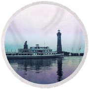 Calm On The Water Round Beach Towel