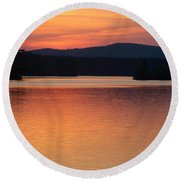 Calm Sunset Round Beach Towel