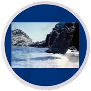 Calming Waves Round Beach Towel