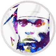 Cam Newton - Doc Braham - All Rights Reserved Round Beach Towel