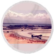 Cam Rahn Bay Airfield Round Beach Towel