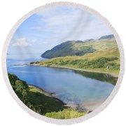 Camas Nan Geall Ardnamurchan Scotland Round Beach Towel