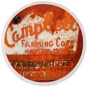 Cambell Farming Corperation Hardin Montana Round Beach Towel