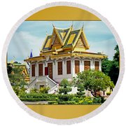 Cambodian Temples 1 Round Beach Towel
