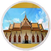 Cambodian Temples 2 Round Beach Towel