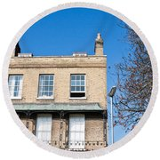Cambridge Apartments Round Beach Towel by Tom Gowanlock