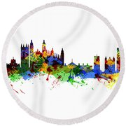 Cambridge England Round Beach Towel