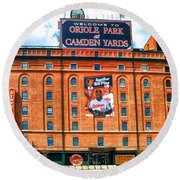 Camden Yards Round Beach Towel