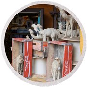 Camel Cola Round Beach Towel