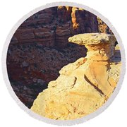 Camel Rock Round Beach Towel