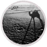 Camel Shadow Round Beach Towel