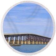 Camelback Bridge Round Beach Towel
