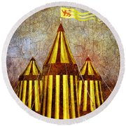 Camelot Restrained Round Beach Towel