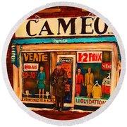 Cameo Dress Shop Round Beach Towel
