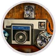 Camera - Kodak Instamatic Round Beach Towel