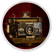 Camera - Polaroid  The Reporter Se Round Beach Towel