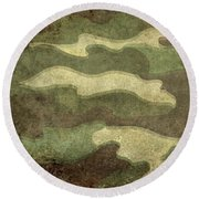 Camo Distressed Hard Version Round Beach Towel