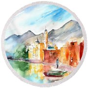 Camogli In Italy 11 Round Beach Towel