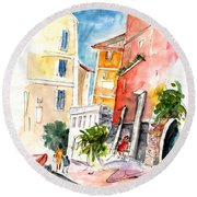 Camogli In Italy 13 Round Beach Towel