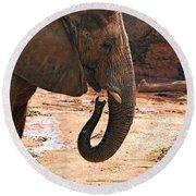 Camouflaged Elephant Round Beach Towel