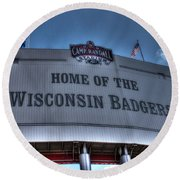 Camp Randall Stadium Round Beach Towel