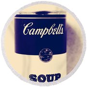 Campbells Soup Round Beach Towel