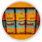 Campbell's Soup Retro Andy Warhol Round Beach Towel