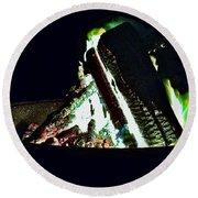 Campfire Round Beach Towel