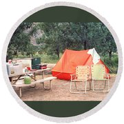 Campgrounds Usa Round Beach Towel