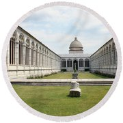 Camposanto  Cathedral Pisa Round Beach Towel