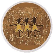 Can Can Dancers Round Beach Towel