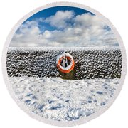 Can You Drown In Snow? Round Beach Towel